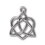 TierraCast Large Celtic Open Heart Drop, Antique Silver